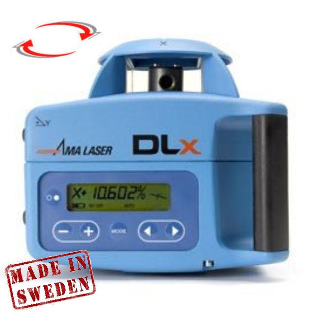 Rotační sklonový laser AMA DLx, Přijímač D5 (v ceně), Lať bez laserové latě, Stativ bez stativu