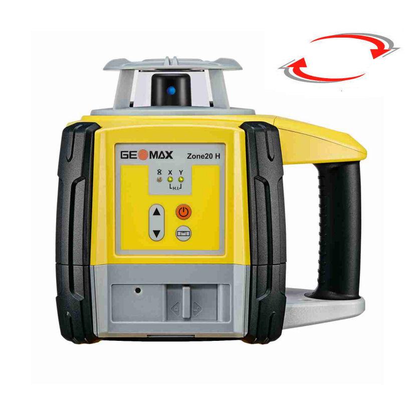 Rotační nivelační laser pro exteriér, Přijímač ZRP105 Pro, Lať bez laserové latě, Stativ bez stativu
