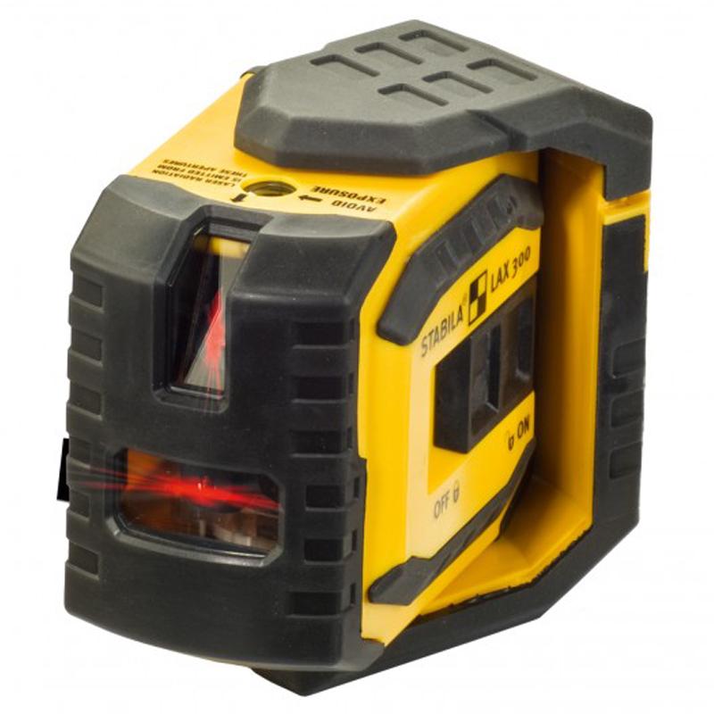 Křížový laser Stabila LAX-300 s laserovou olovnicí, Přijímač Ne, Lať laserová lať s posuvným jezdcem TLL-1, Stativ bez stativu