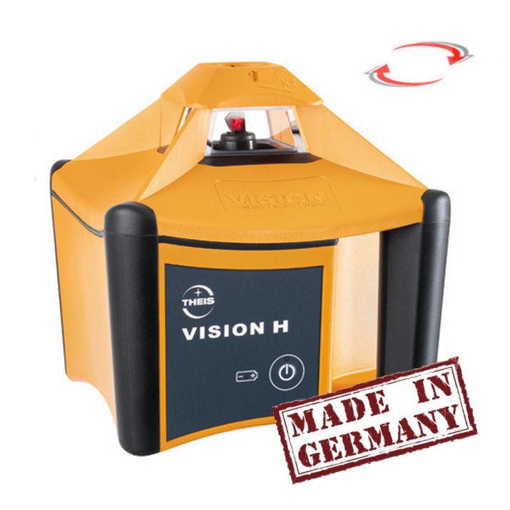 Nivelační rotační laser pro exteriér, Přijímač TE-6 (v ceně), Lať bez laserové latě, Stativ robustní hliníkový stativ (1,65m)