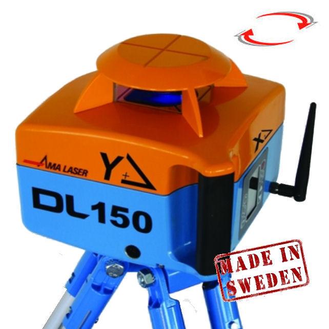 Rotační sklonový laser AMA DL 150, Přijímač D8, Lať bez laserové latě, Stativ bez stativu