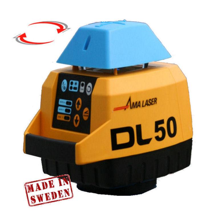 Horizontální rotační laser pro exteriér, Přijímač D5 (v ceně), Lať bez laserové latě, Stativ bez stativu