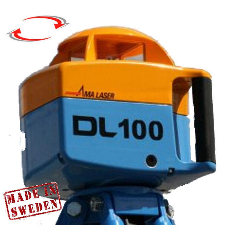 Nivelační rotační laser pro exteriér, Přijímač D5 (v ceně), Lať bez laserové latě, Stativ bez stativu