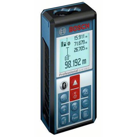 Laserový dálkoměr Bosch GLM 100 C Professional, Laserové brýle bez brýlí, Fotostativ bez stativu, Odrazná deska Bosch Ano