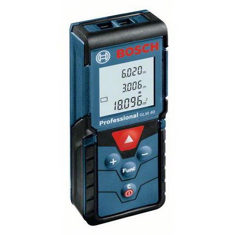 Laserový dálkoměr Bosch GLM 40 Professional, Laserové brýle bez brýlí, Odrazná deska Bosch Ano