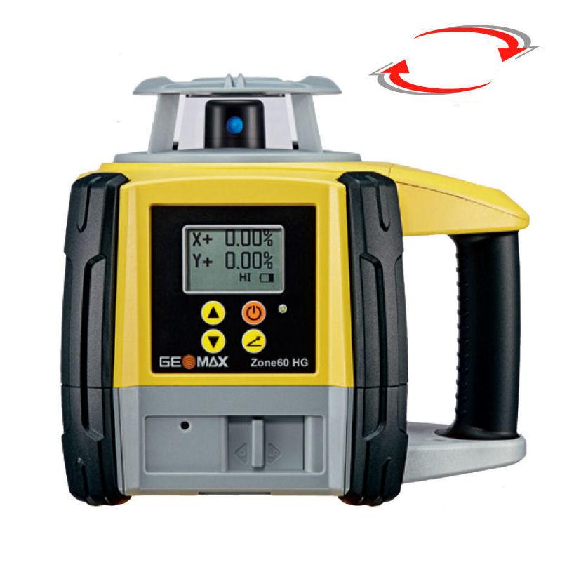 Sklonový rotační laser Zone 60HG Pro, Přijímač ZRB35 Basic, Lať bez laserové latě, Stativ bez stativu