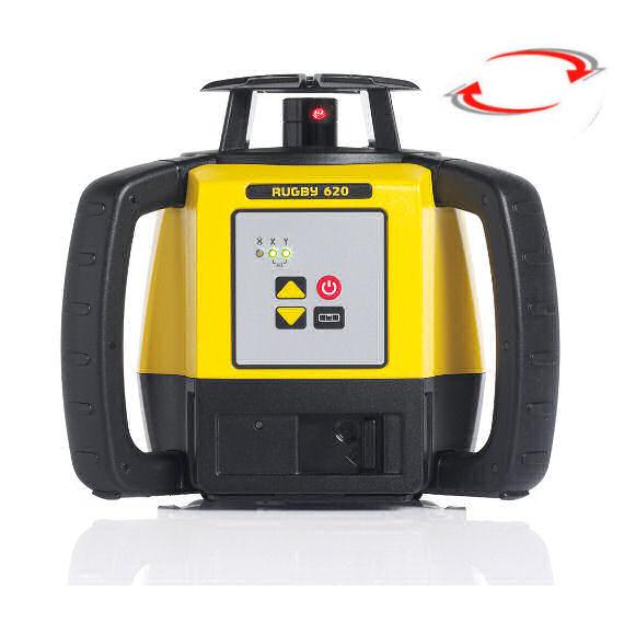Rotační nivelační laser pro exteriér, Přijímač Rod Eye Basic (v ceně), Lať bez laserové latě, Stativ bez stativu