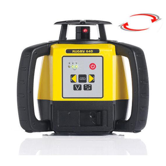 Stavební laser pro interiér i exteriér, Přijímač Rod Eye Basic (v ceně), Lať laserová lať s posuvným jezdcem TLL-1, Stativ robustní hliníkový stativ (1,65m)