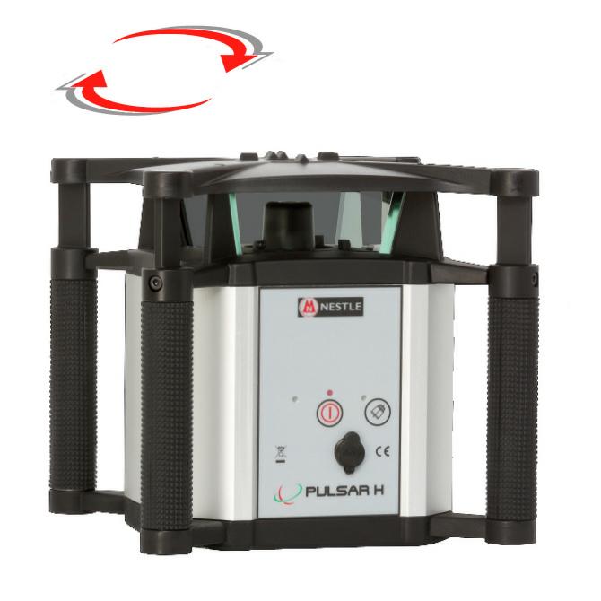 Rotační nivelační laser pro exteriér, Přijímač DR (v ceně), Lať bez laserové latě, Stativ bez stativu