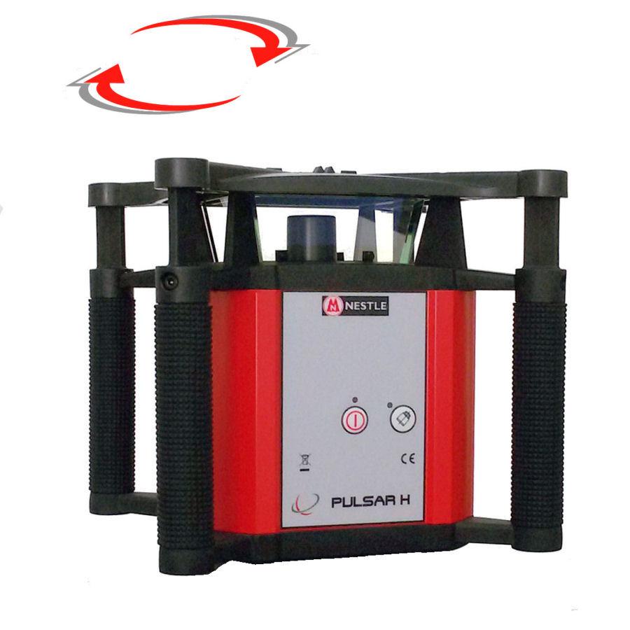 Rotační nivelační laser pro exteriér, Přijímač PDR 60 (v ceně), Lať laserová lať s posuvným jezdcem TLL-1, Stativ robustní hliníkový stativ (1,65m)