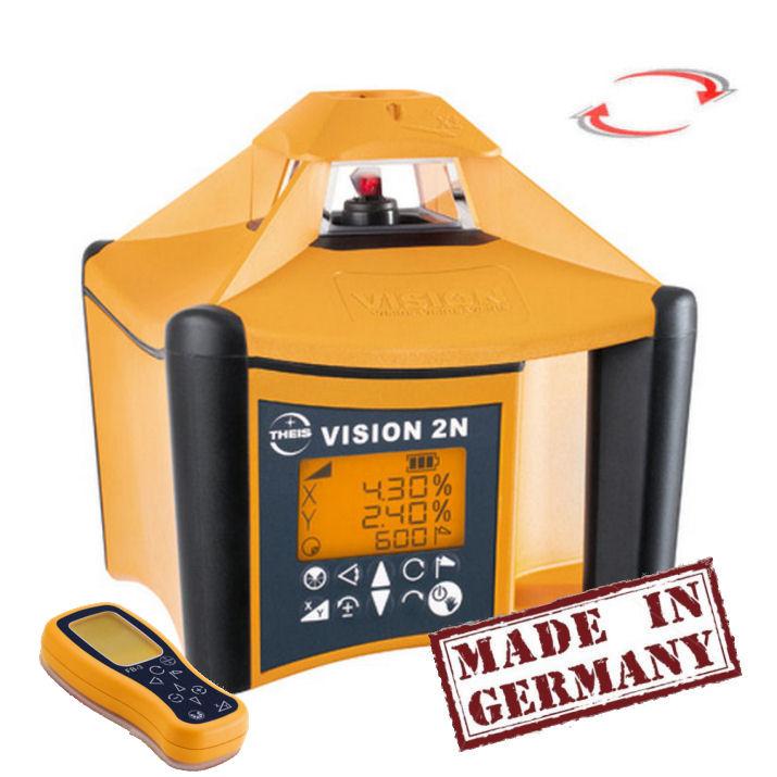 Sklonový laser Theis Vision 2N s dálkovým ovladačem, Přijímač TE-6 (v ceně), Lať bez laserové latě, Stativ bez stativu