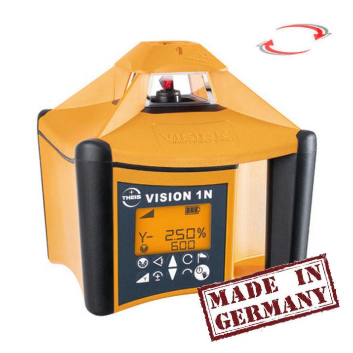 Sklonový rotační laser Theis Vision 1N, Přijímač TE-6 (v ceně), Lať bez laserové latě, Stativ bez stativu
