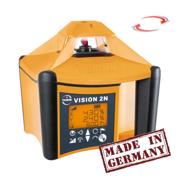 Sklonový rotační laser Theis Vision 2N, Přijímač TE-6 (v ceně), Lať bez laserové latě, Stativ bez stativu